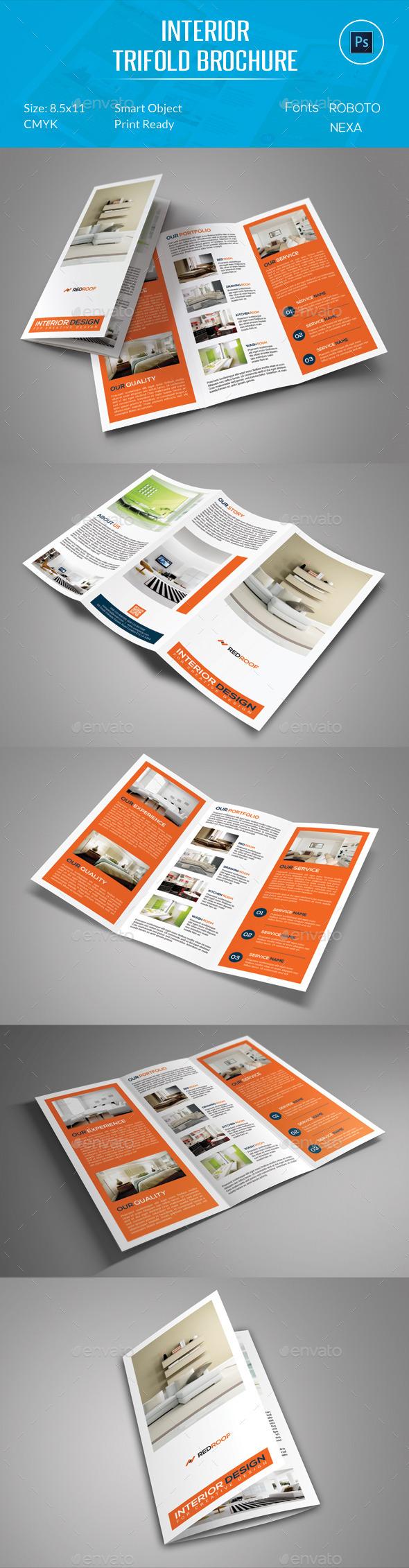 Interior Trifold Brochure - Corporate Brochures