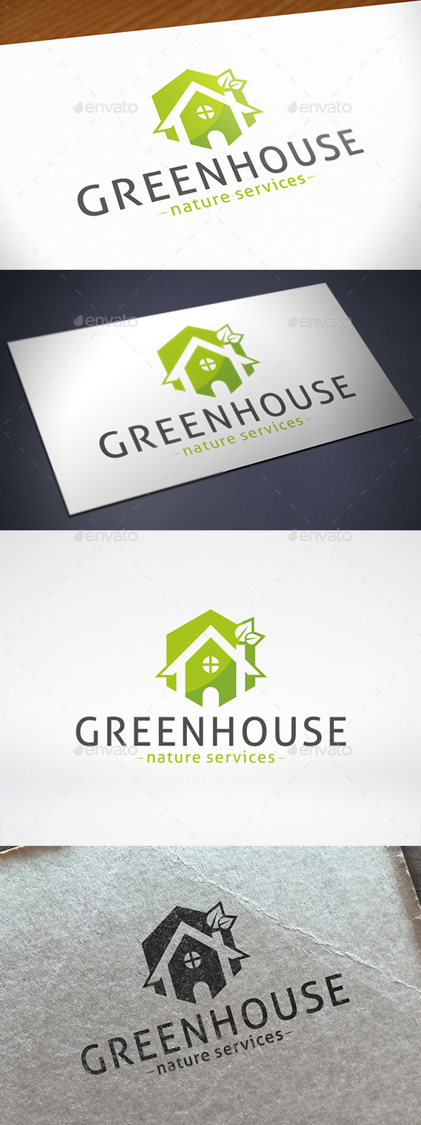 Green House Logo Template - Nature Logo Templates