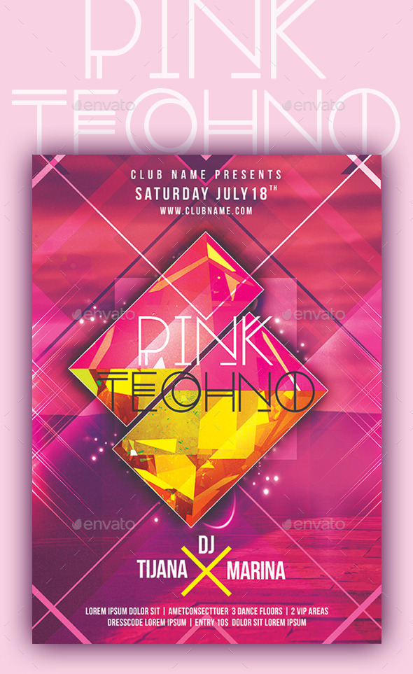 Pink Techno - Clubs & Parties Events