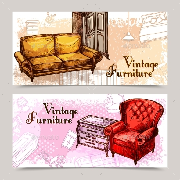 Furniture Banner Set - Miscellaneous Vectors