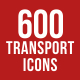 600 Transport Icons - GraphicRiver Item for Sale