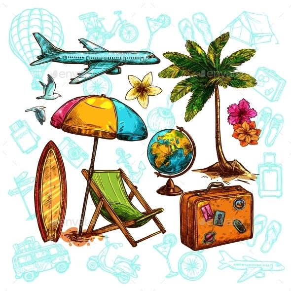 Travel Sketch Set - Travel Conceptual