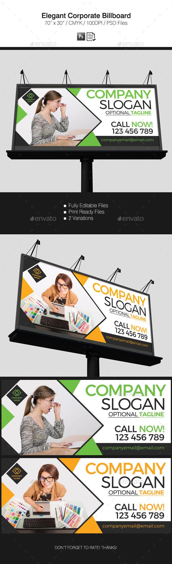 Elegant Corporate Billboard - Signage Print Templates