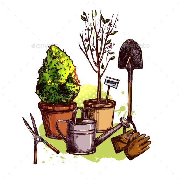 Garden Tools Set - Nature Conceptual