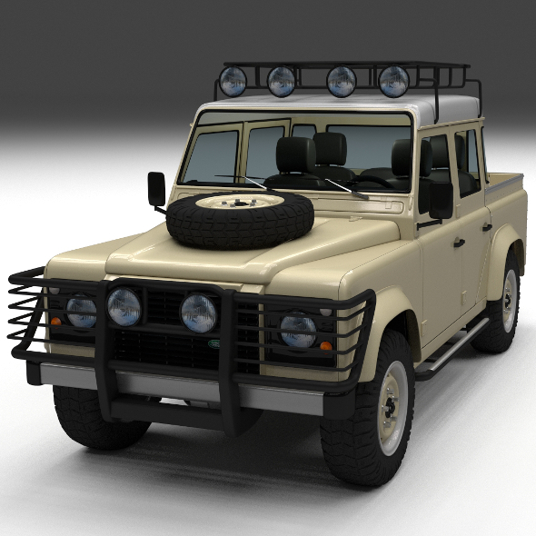 Land Rover Defender 110 Double Cab Pick Up w inter - 3DOcean Item for Sale