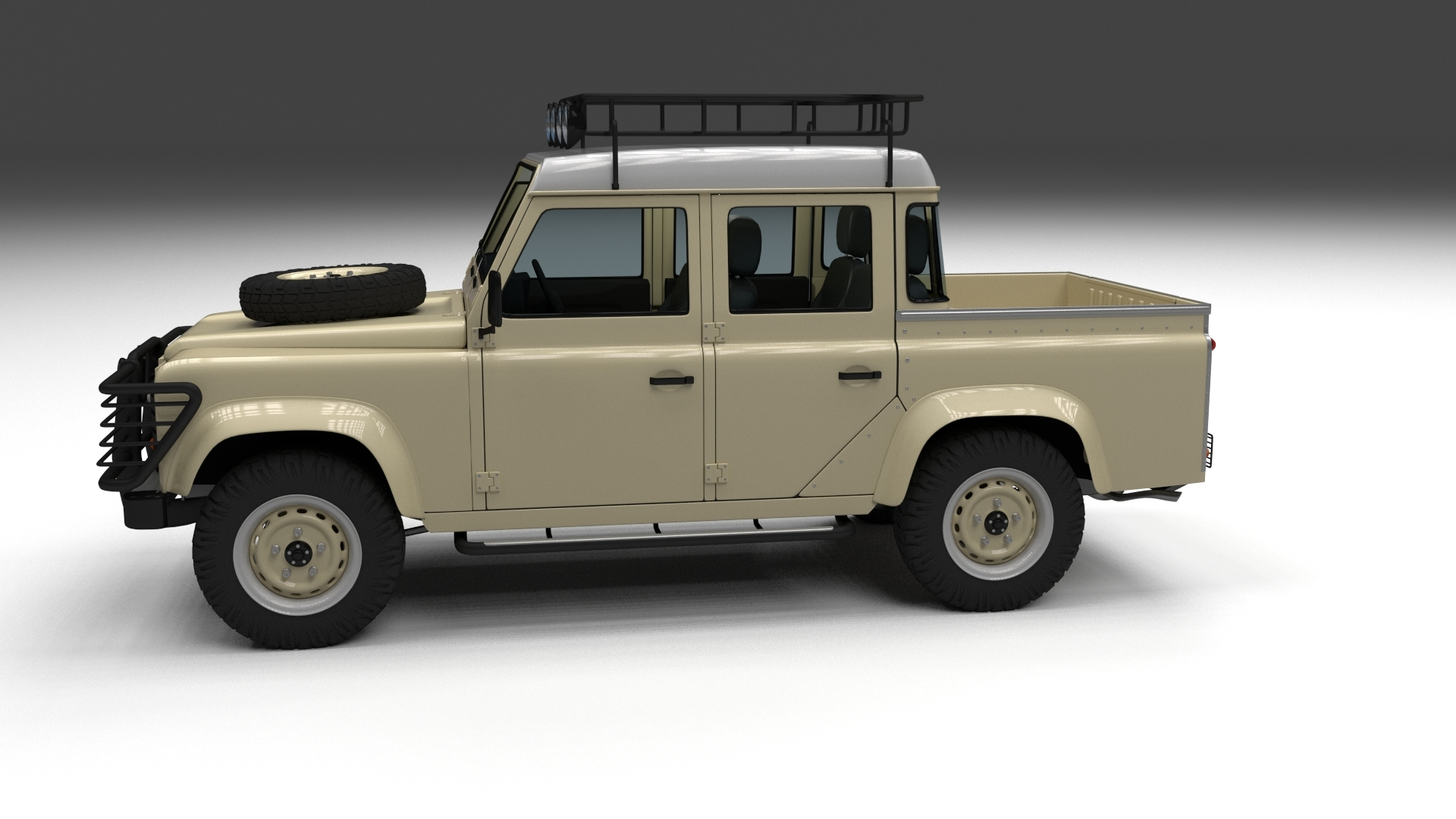 land rover defender 110 double cab pick up w inter by dragosburian. Black Bedroom Furniture Sets. Home Design Ideas