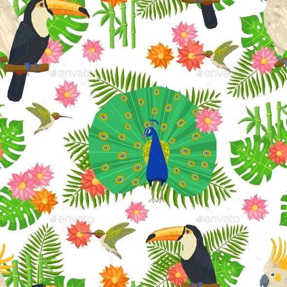 Bird Seamless Pattern - Nature Conceptual