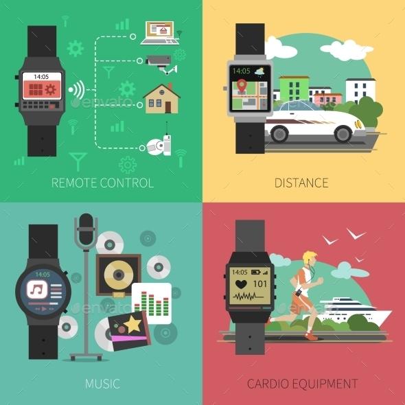 Smart Watch Set - Technology Conceptual