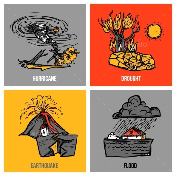 Natural Disasters Set - Miscellaneous Conceptual