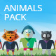 24 Animals Characters Set - GraphicRiver Item for Sale