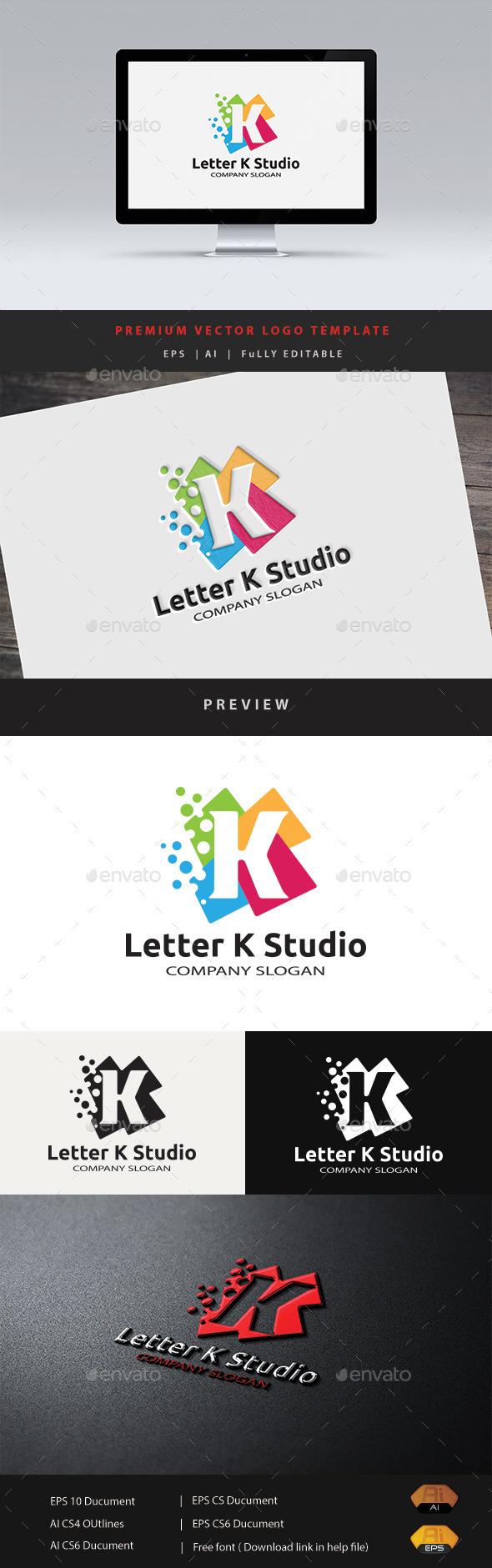 Letter K Studio - Letters Logo Templates
