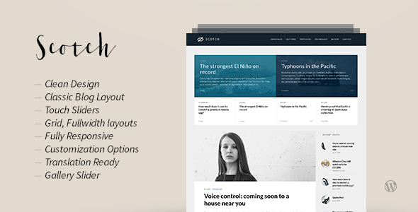 Scotch — Responsive WordPress Blog Theme
