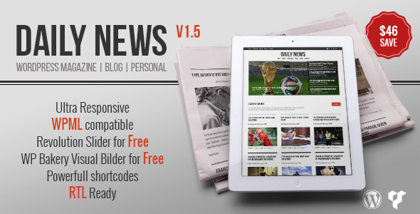 DAILYNEWS – Magazine | Blog | Personal WordPress Theme