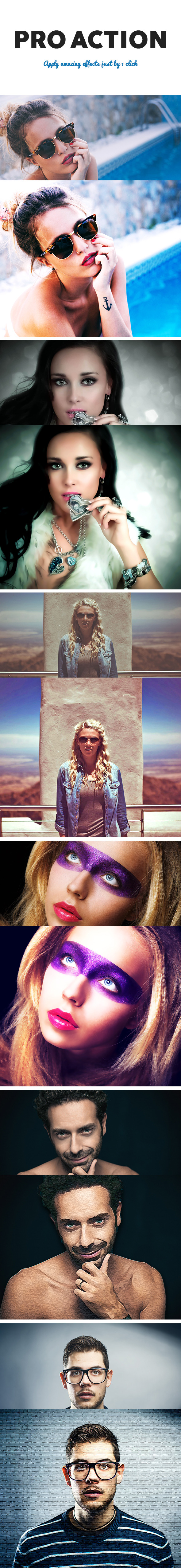 Pro Photoshop Action - Photo Effects Actions