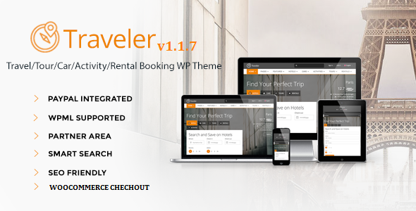 Traveler – Travel/Tour/Booking WordPress Theme