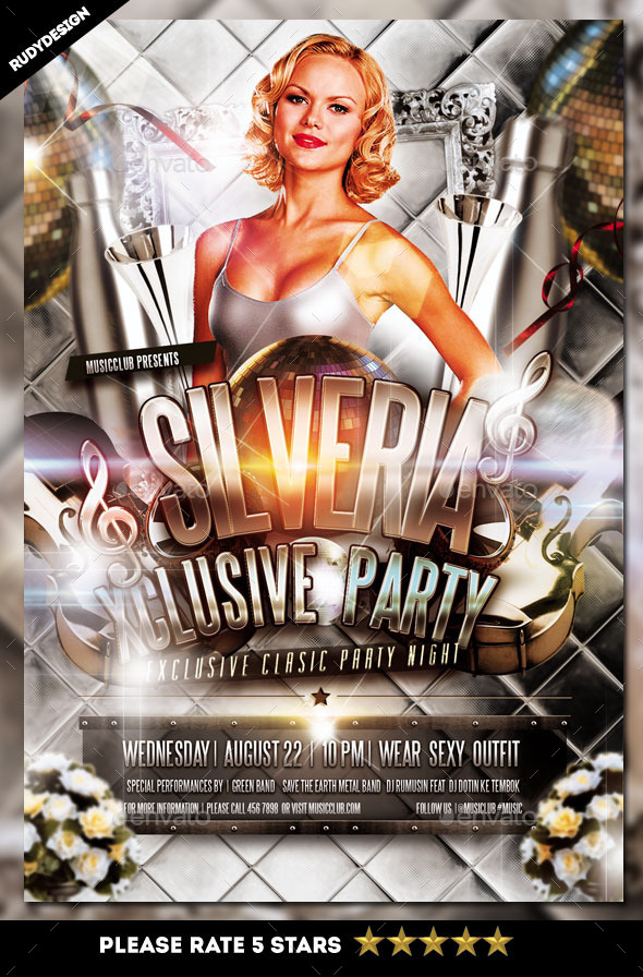 Silveria Exclusive Classic Party Night Flyer - Clubs & Parties Events