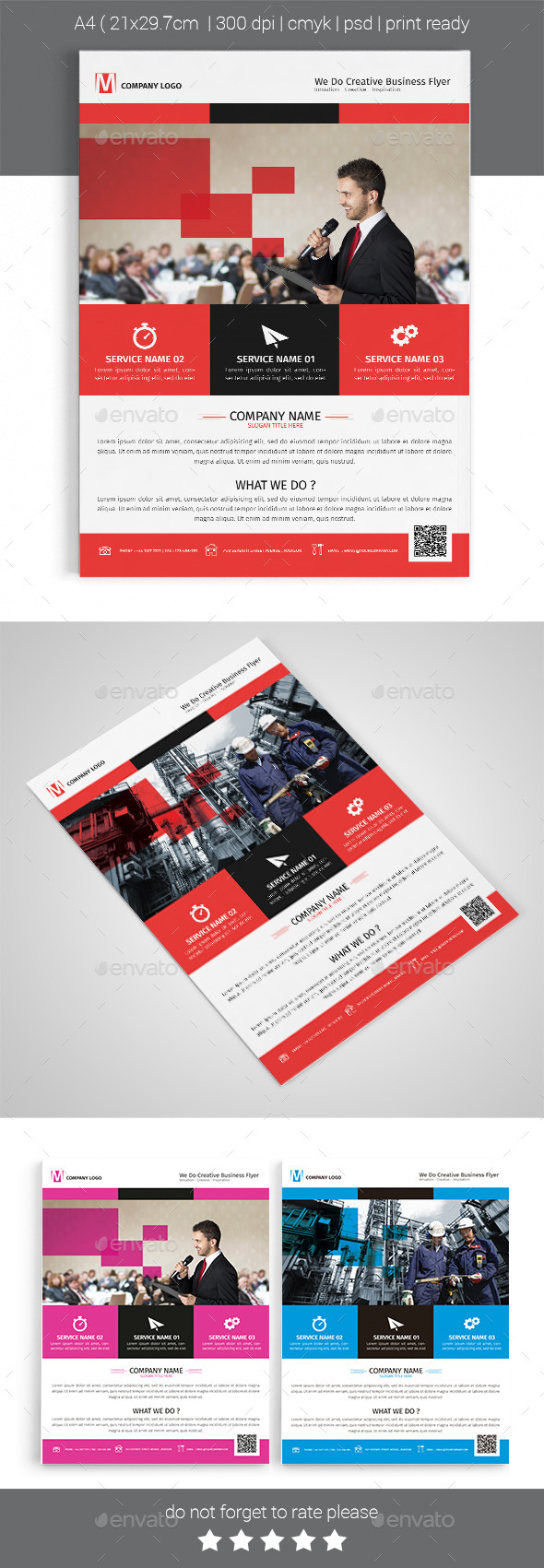 A4 Corporate Business Flyer Template Vol 05 - Corporate Flyers