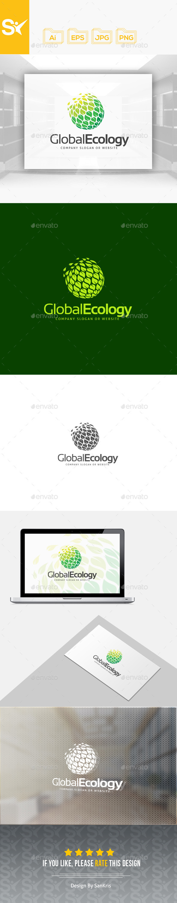Global Ecology Logo - Nature Logo Templates