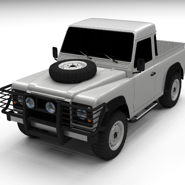 Land Rover Defender 90 Pick Up - 3DOcean Item for Sale