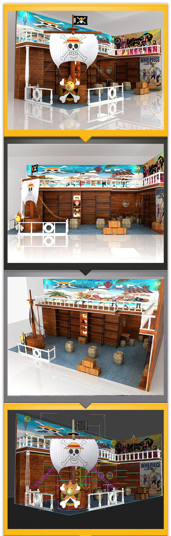 Store in cartoon style - 3DOcean Item for Sale