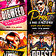 Electro Dj Flyer PSD Bundle  - GraphicRiver Item for Sale