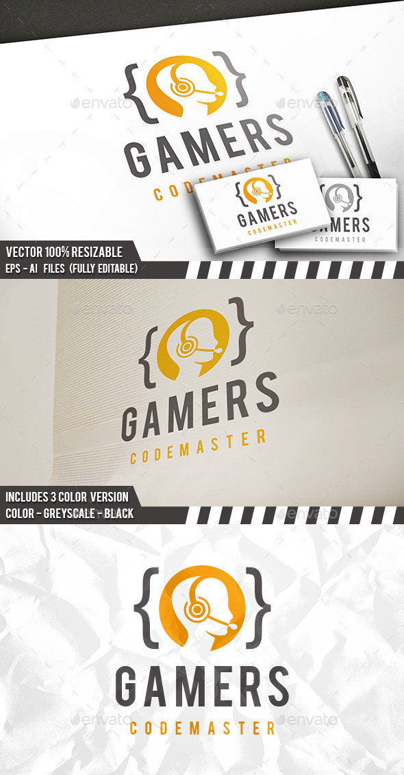 Code Gamer Logo - Humans Logo Templates