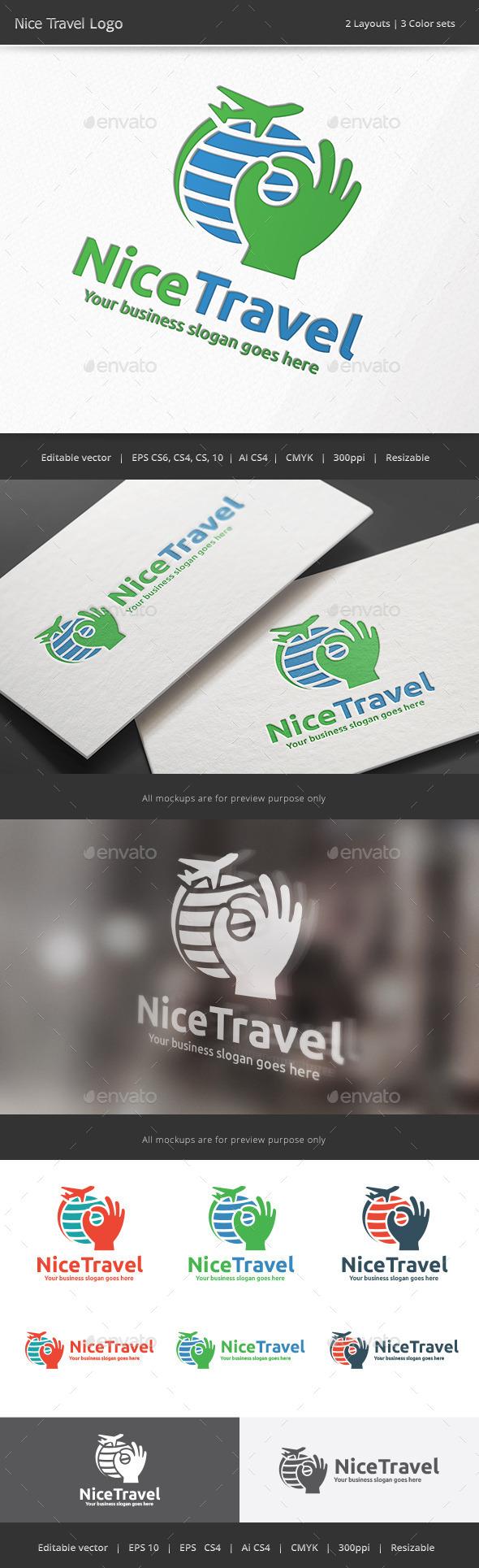 Nice Travel Logo - Vector Abstract
