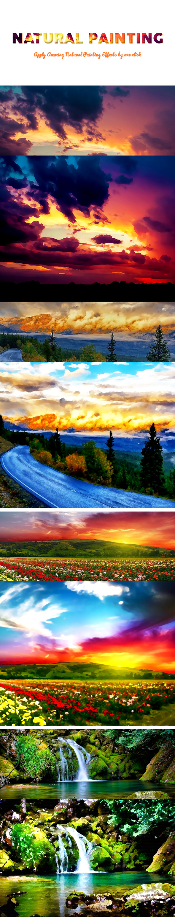 Natural Painting - Photo Effects Actions