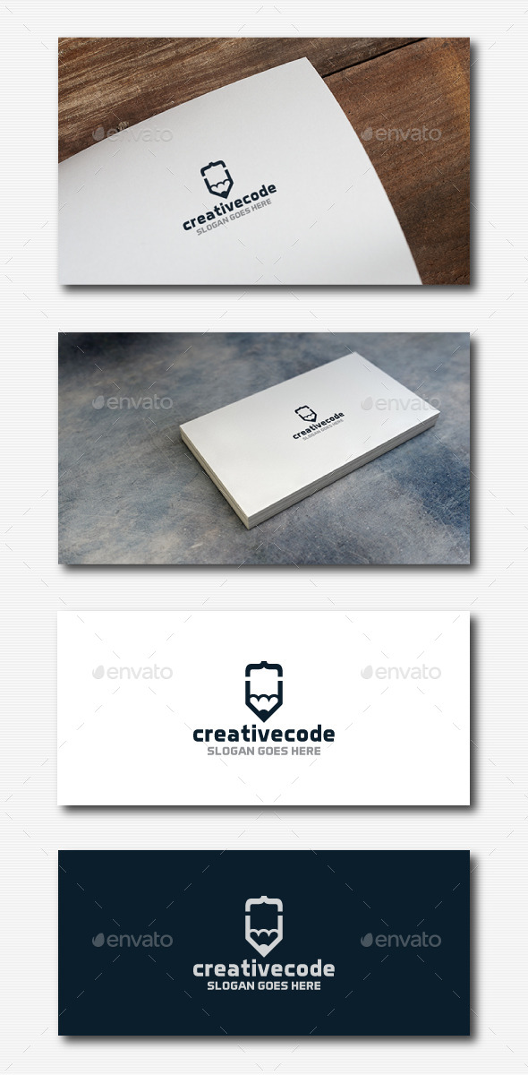 Creative Coder Logo - Abstract Logo Templates