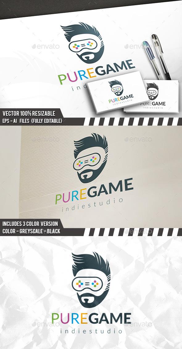 Geek Gamer Logo - Humans Logo Templates