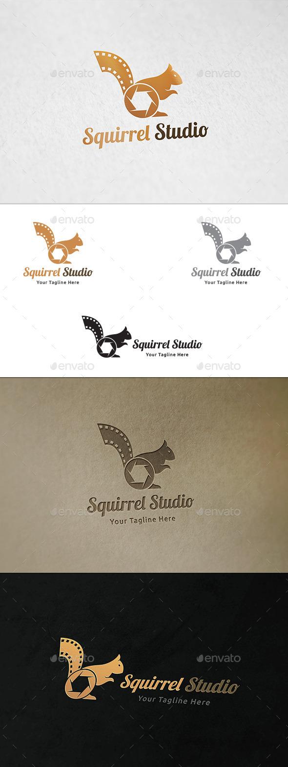 Squirrel Studio - Logo Template - Animals Logo Templates