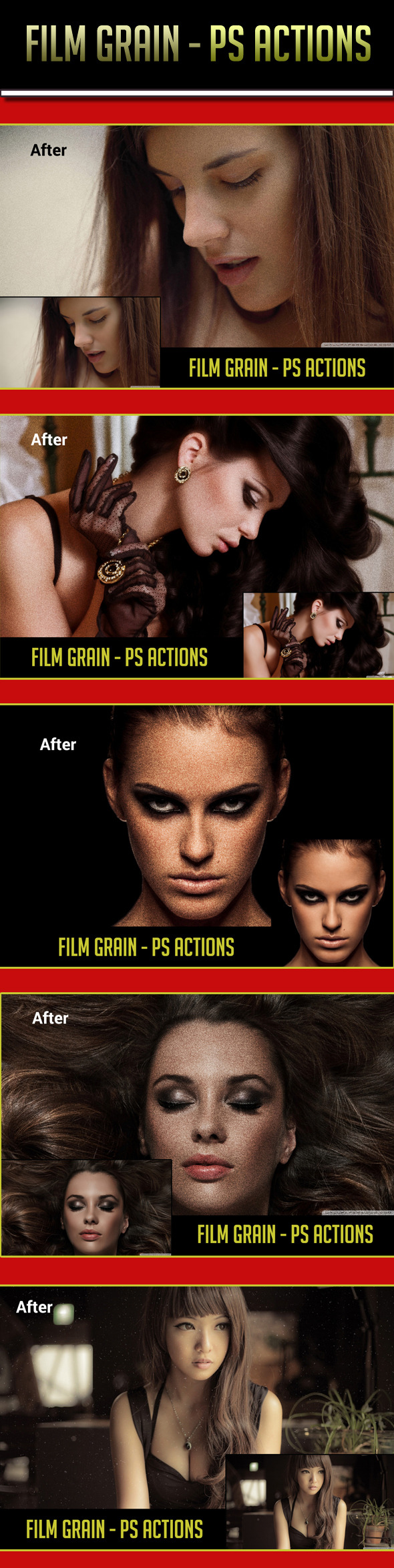 Film Grain PS Actions - Photo Effects Actions