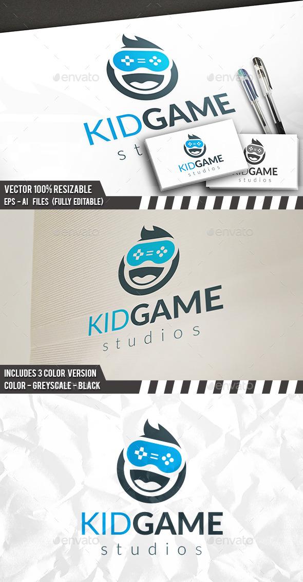 Kid Gamer Logo - Humans Logo Templates