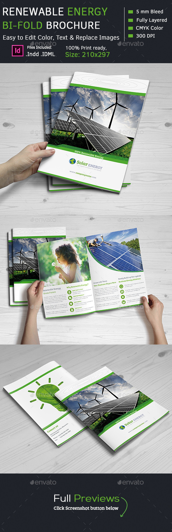 Renewable Energy Bi-Fold  Brochures - Corporate Brochures