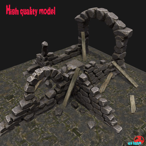 Ruin_Set - 3DOcean Item for Sale