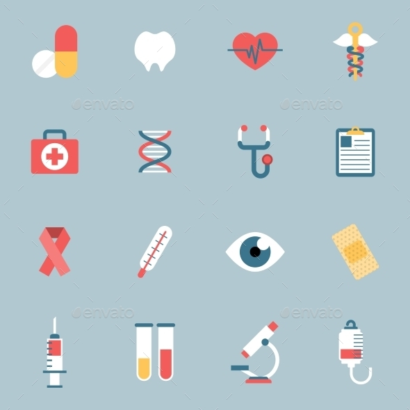 Medical Icons Flat - Icons