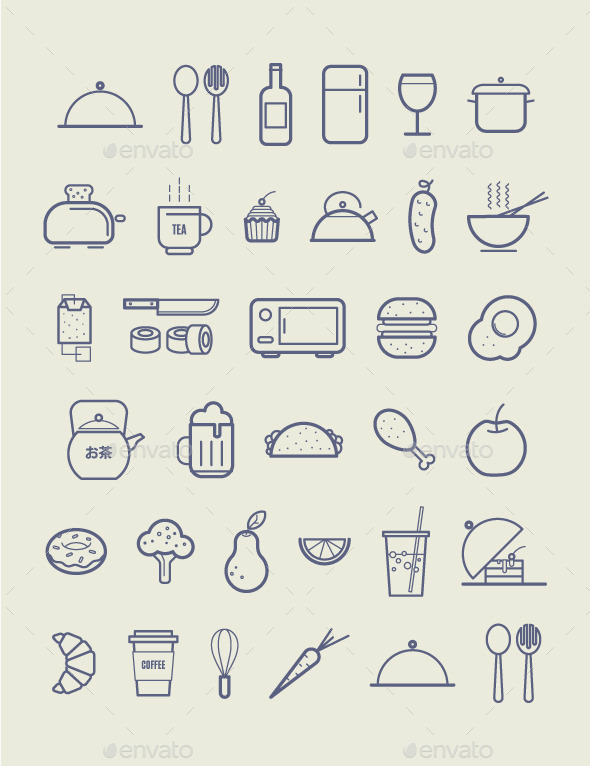 Kitchen Icons - Food Objects