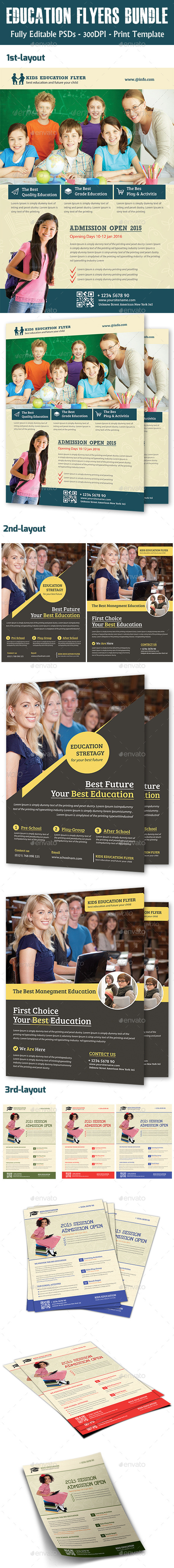 Education Flyers Bundle - Flyers Print Templates