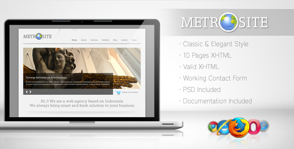 Free Download Metrosite - Classic Business Template Nulled Latest Version