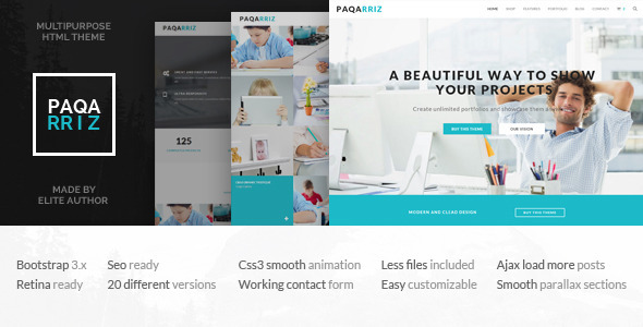 Paqarriz – Multipurpose HTML5 Template