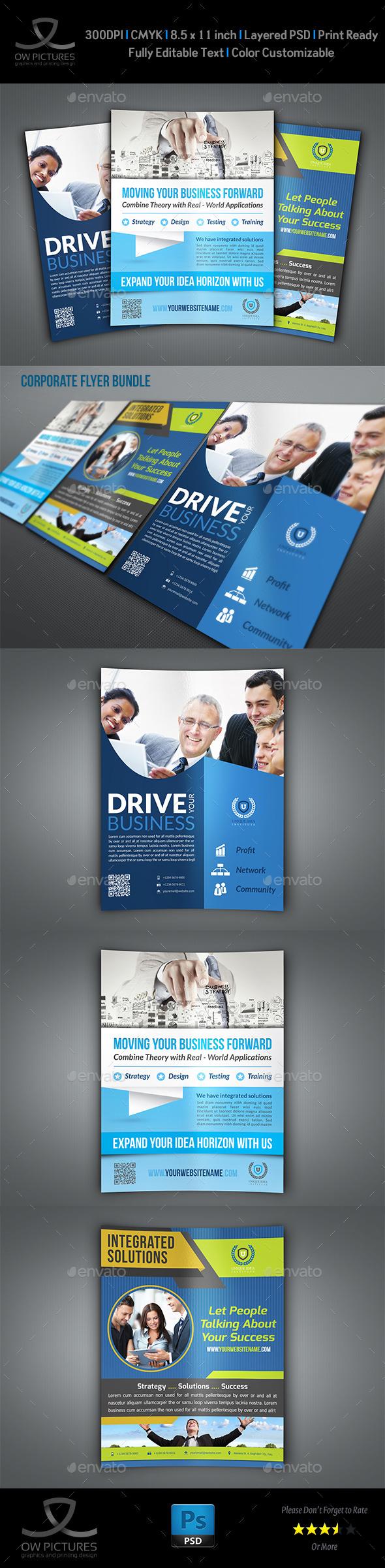 Corporate Flyer Bundle Template Vo.4 - Flyers Print Templates