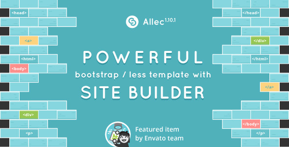 Allec – Bootstrap/LESS Template with Site Builder