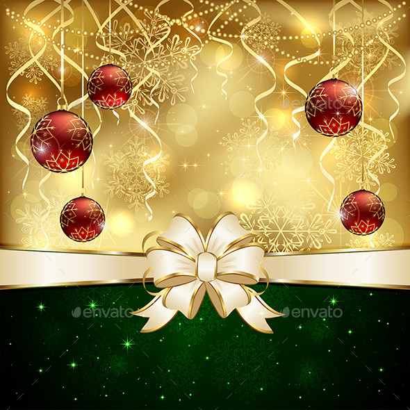 Background with Baubles - Christmas Seasons/Holidays