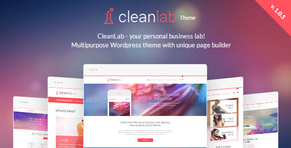CleanLab - Creative Multi-Purpose WordPress Theme with Page builder