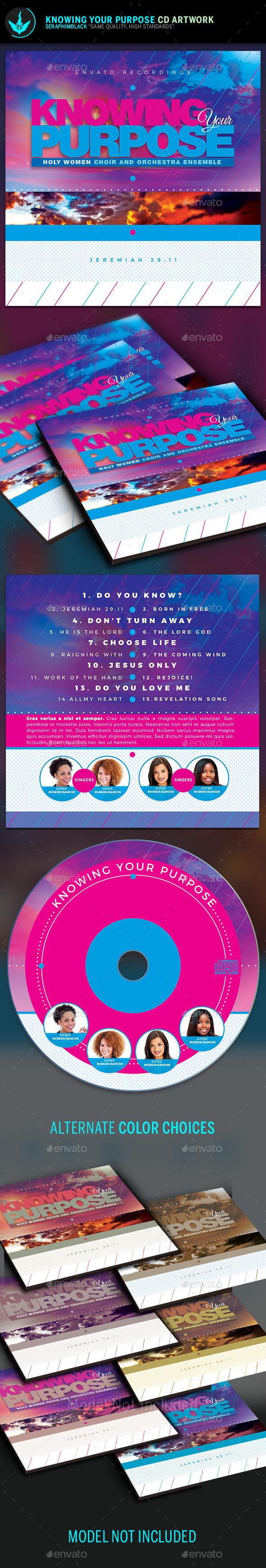 Knowing Your Purpose CD Artwork Template - CD & DVD Artwork Print Templates