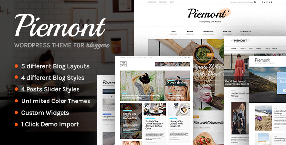 Piemont – Premium Responsive WordPress Blog Theme
