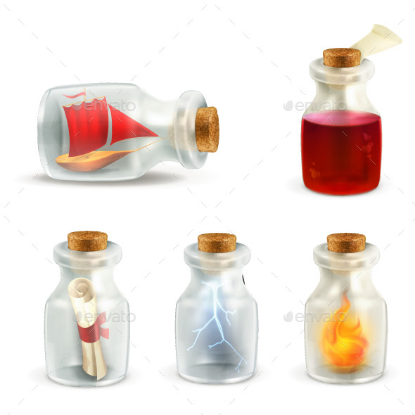 Glass Jars Illustrations - Man-made Objects Objects