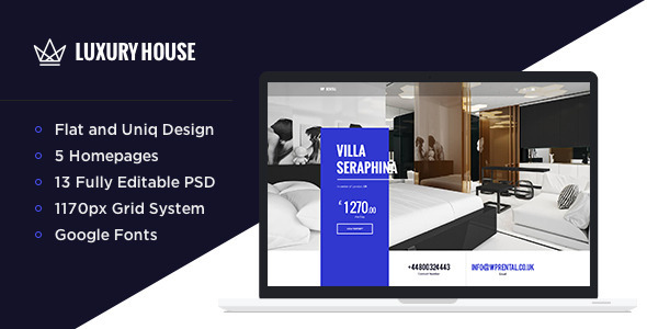 Luxury House - Real Estate PSD