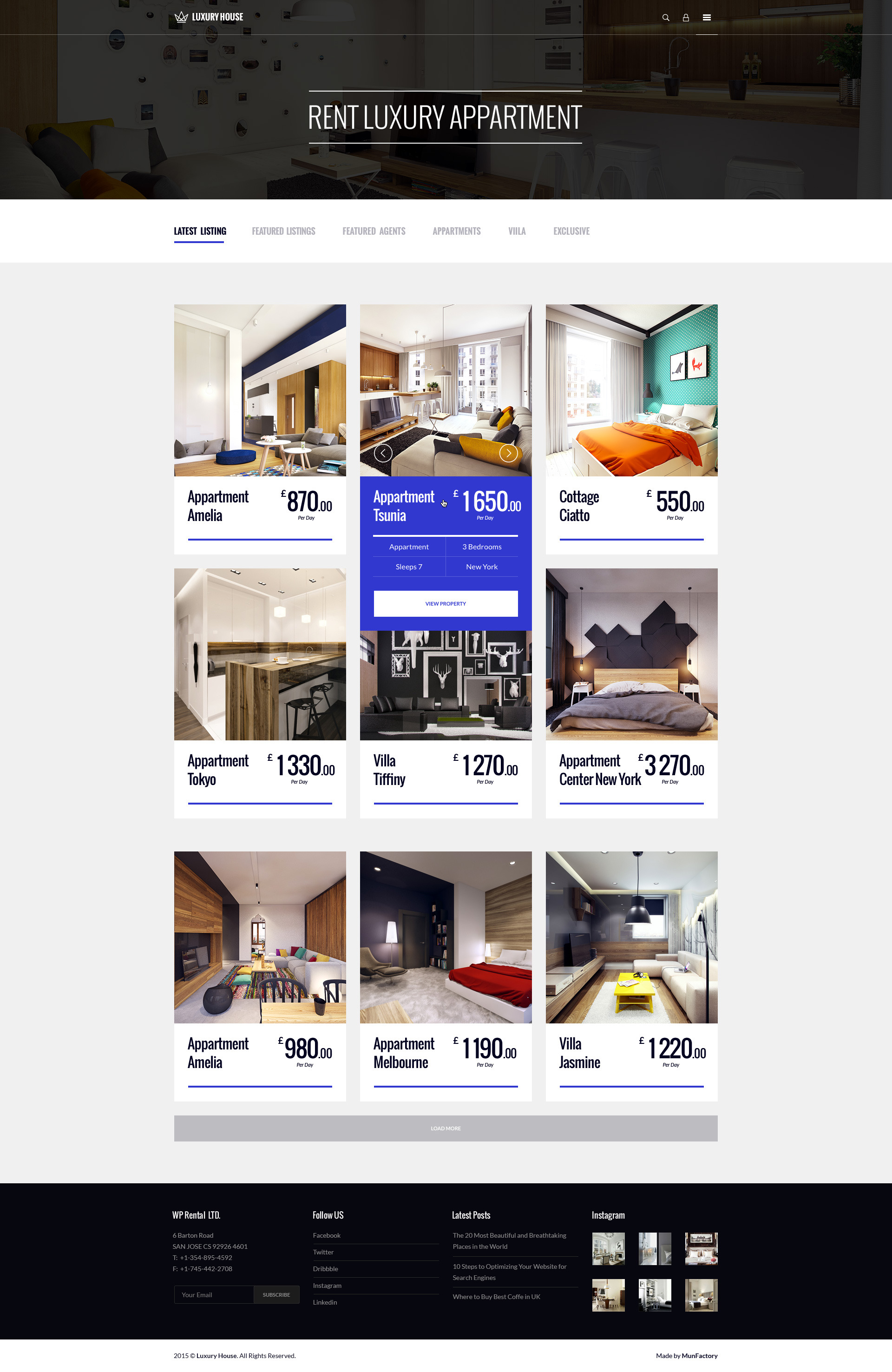Luxury House Real Estate Psd By Munfactory Themeforest