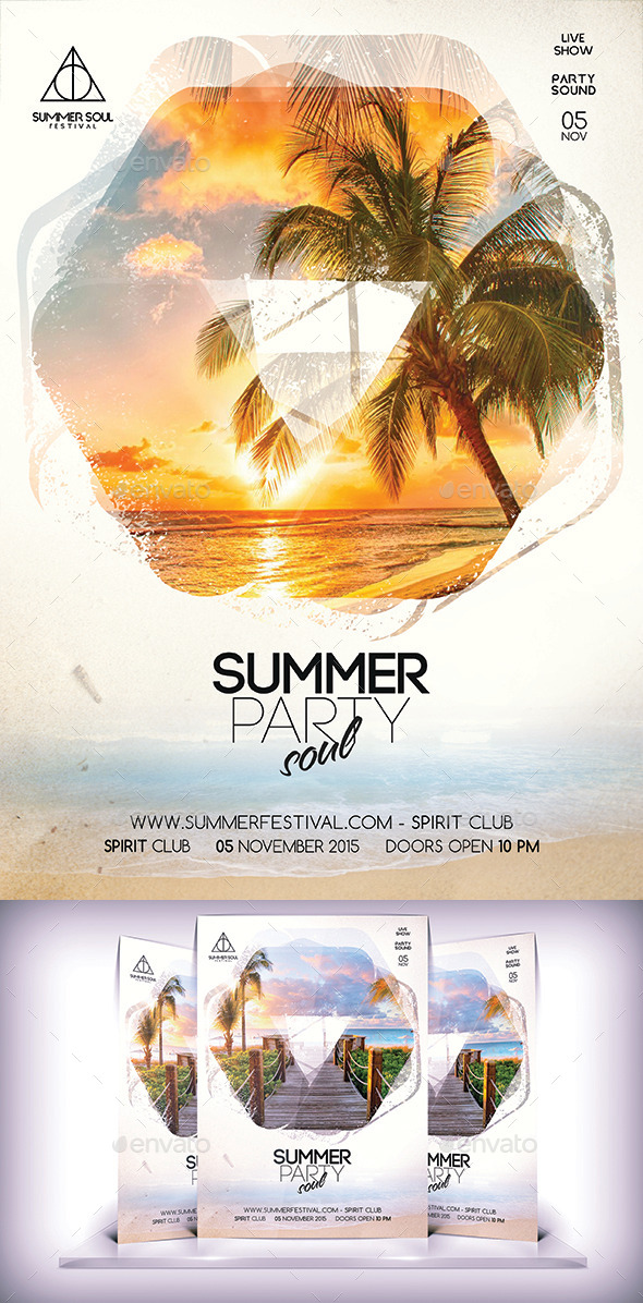 Summer Soul Party Flyer Vol 2